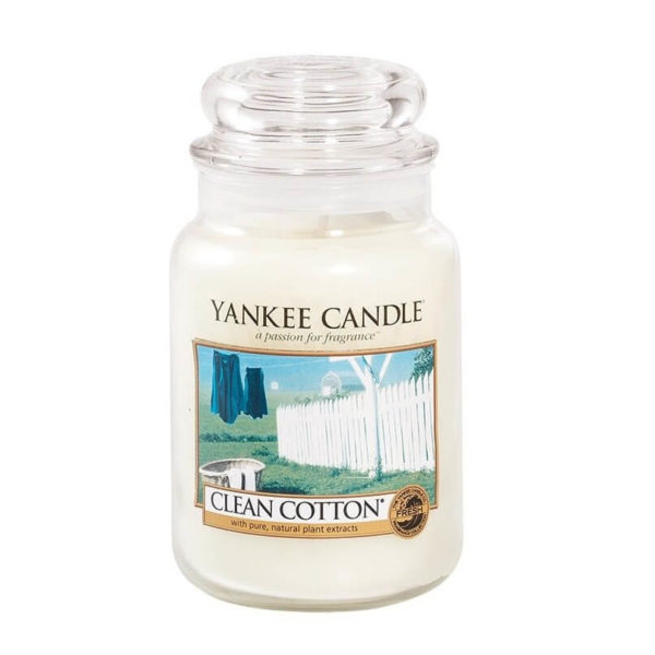 Clean Cotton - duży słoik - Yankee Candle